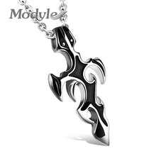 Modyle New Trendy Jewelry Stainless Steel Men Cross Necklaces & Pendants