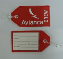 Avianca Airlines Crew Embroidery Luggage Tag