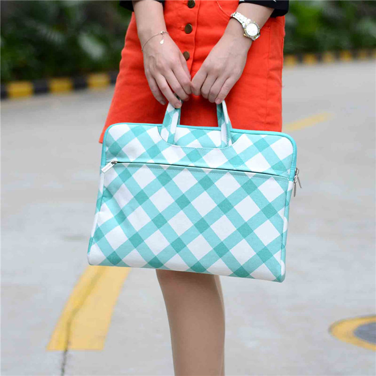 Square pattern Canvas Laptop handbag Case for macbook air pro retina 13 Bag for 13.3inch Ultrabook thin computer tablet<br><br>Aliexpress