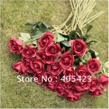 red rose,Garland,Valentine's Day,Wedding decoration,Home decoration,Simulation of high single head rose,10pc/MOQ(China)