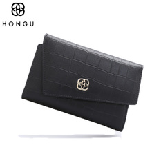 HONGU Fashion Clutches Bags Women Wallet Female Long Buckle Wallets Patent Coin Purse Credit Card Package Luxury Designer Purple(China)