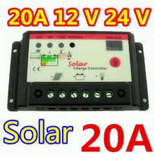 Free Shipping, 20A 12V 24V Solar Cell Panel Battery Charge Controller Regulator Timer for LED Street Lighting or PV Home System