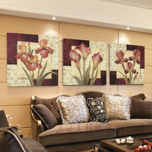3 Panel Modern Flower Picture Wall Modular Pictures For Living Room Oil Paintings Art Hd Print Canvas Painting On Cuadros No Fra