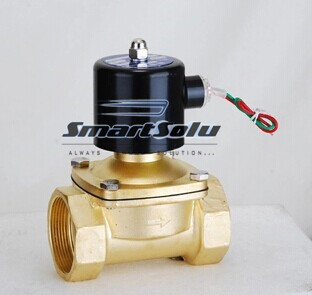 Free Shipping brass material Electric Solenoid Valve for Water Air normal close 1 2W250-25, two way valve,<br>