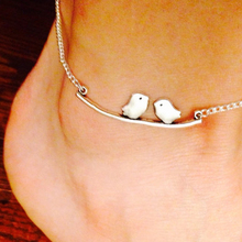 Bohemian Love birds anklet   for women silver anklet  For Women  cheap anklets Exquisite gift  JK124