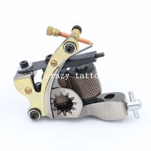 Crazy Top Selling New Hand-assembled Cast Iron Tattoo Machine 10 Laps Coils Handmade Tattoo Gun For Liner Shader Free Shipping