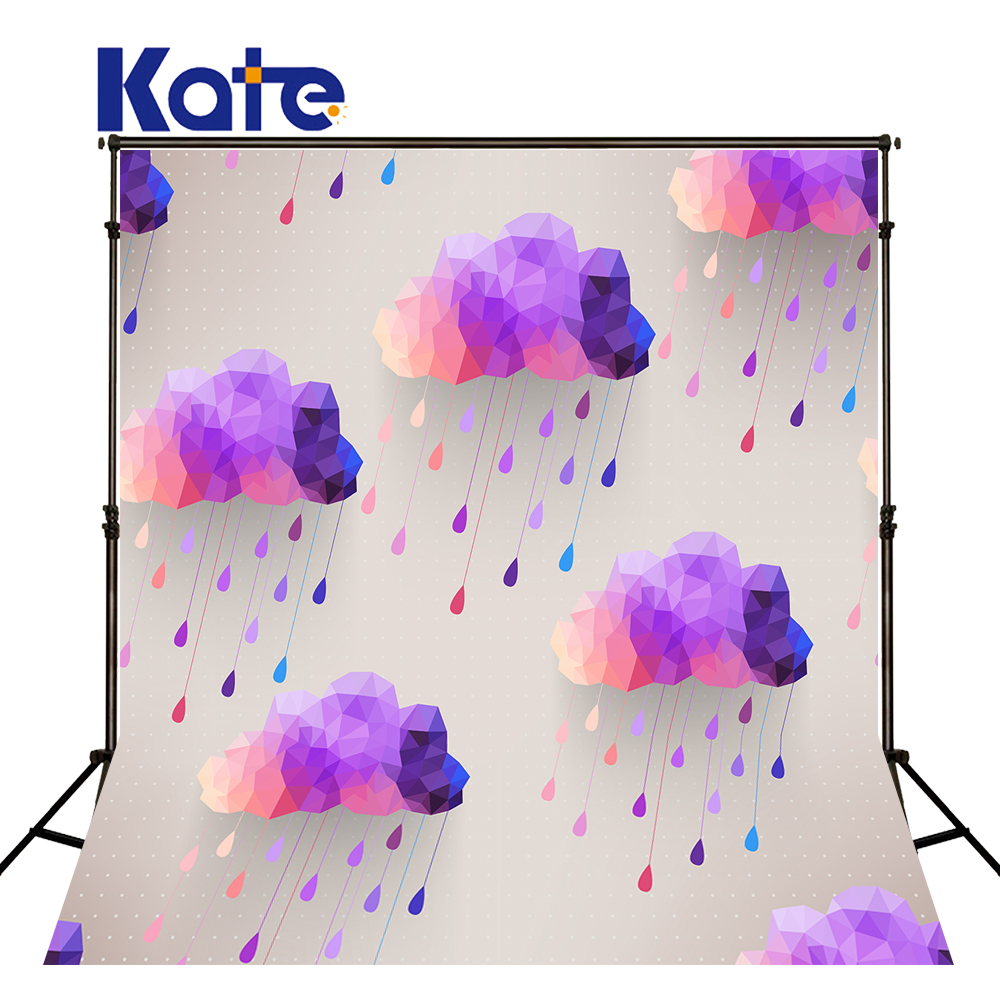 KATE Photography Backdrops 10ft Cartoon Background Cloud Purple Photography Backdrops Fondo Fotografico De Estudio Infantil <br>
