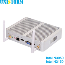 New Intel Fanless Mini PC Celeron N3150 N3050 Quad Core 1.6~2.08GHz Windows 10 Mini PC Computer Dual HDMI WiFi Dual LAN TV Box