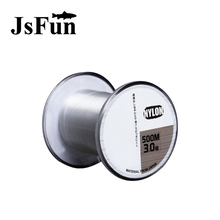 JSFUN 500m Fluorocarbon Fishing Line 1.0#-8.0# Monofilament Fishing Line Ip Misina Naylon Carp leash Fishing 4LB-35LB FL99