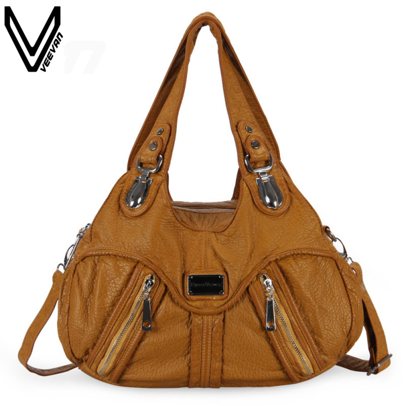 2016 Hot Sale Handbag Washble Leather Bags For Women Fashion Lades Tote Bags Top Quality Newest  Shoulder Messenger Bags<br>