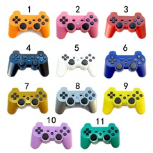Wholesale 30pcs 11 Colors 2.4GHz Wireless Bluetooth Game Controller For PS3 Console For Sony PS3 SIXAXIS Joystick Gamepad(China)