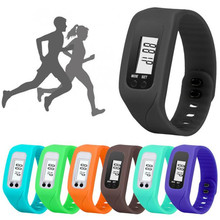 Perfect Gift Digital LCD Pedometer Run Step Walking Distance Calorie Counter Watch Bracelet levert dropship Dec29(China)