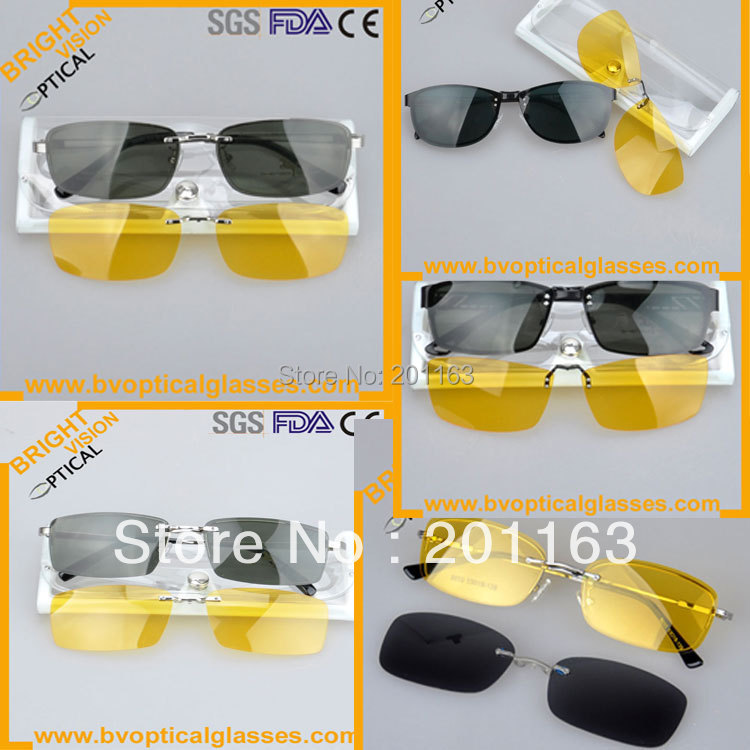 low price mixed wholesale clip on sunglasses 5 pcs/lot with night driving clip on    sunshade<br><br>Aliexpress