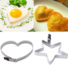 HOT! 5 pcs Breakfast Stainless Steel Fried Egg Mold Pancake Egg Ring Shaper Funny Creative Kitchen Tool