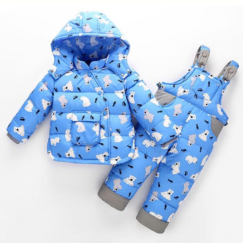 Childrens Down Jacket + Belt Pants Cute Baby Belt Pants Set<br>