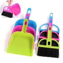 1 set Popular Sale Small Brooms Whisk Dust Pan Table Keyboard Notebook Dustpan Brush Set Cleaning Tools(China)