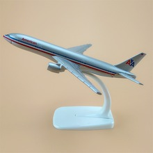 16cm Alloy Metal Air American Airlines Boeing 777 B777 Airways Plane Model Aircraft Airplane Model w Stand  Kids Gift