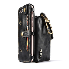 Original PCOL Key Hook Style PU Leather Case For iPhone 6 6S 4.7 inch Deluxe Wallet Card Shell Phone Cases for iPhone 7 4.7 inch