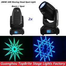 Hot Sales 2XLot Sharppy 280W 10R Beam Spot Moving Head Wash Effect Stage Light With DMX DJ Disco For Stage Laser Light Equipment