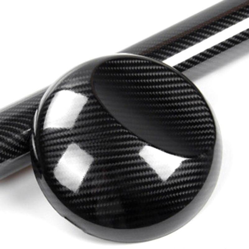 7D Premium HIGH GLOSS Black Carbon Fiber Vinyl Wrap Bubble Free Air Release