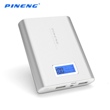 PINENG 18650 Power Bank 10000 MAh Dual USB Charging External Battery Charger Portable PowerBank LCD Display xiaomi mi5 - DONGSHIN International Co., LTD store
