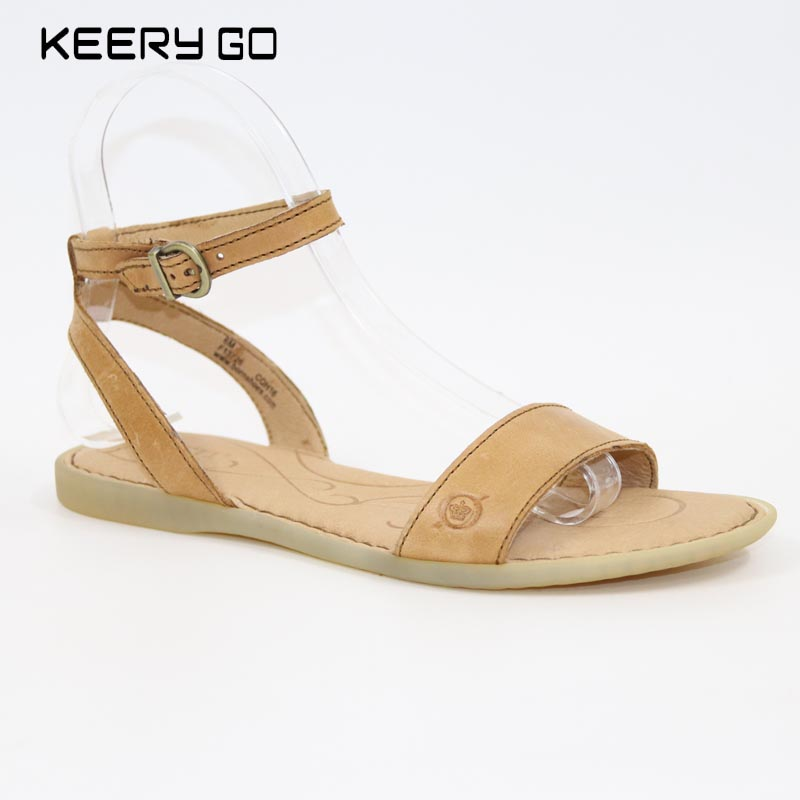 new high-end head layer cowhide women sandals inside and full skin contracted fashion classic US6-8<br>
