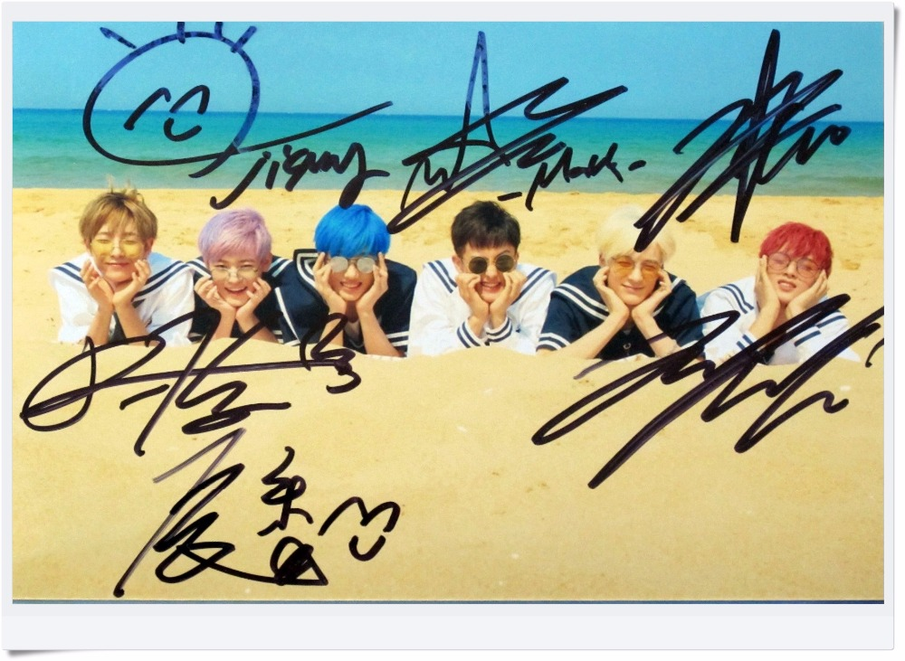 signed NCT DREAM autographed group photo 6 inches WE YOUNG  free shipping K-POP 092017B<br>