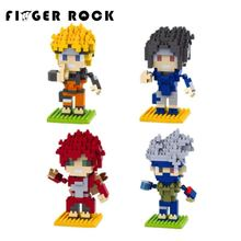 Finger Rock Naruto Action Figures ABS doll DIY Mini Model Toys Quality Christmas Present Gift for Kids(China)
