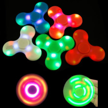 LED Flash Bluetooth Hand Spinner Speaker Fidget Spinner Top Decompression Finger Spiner Toys Pink Blue Green White Red to Kids