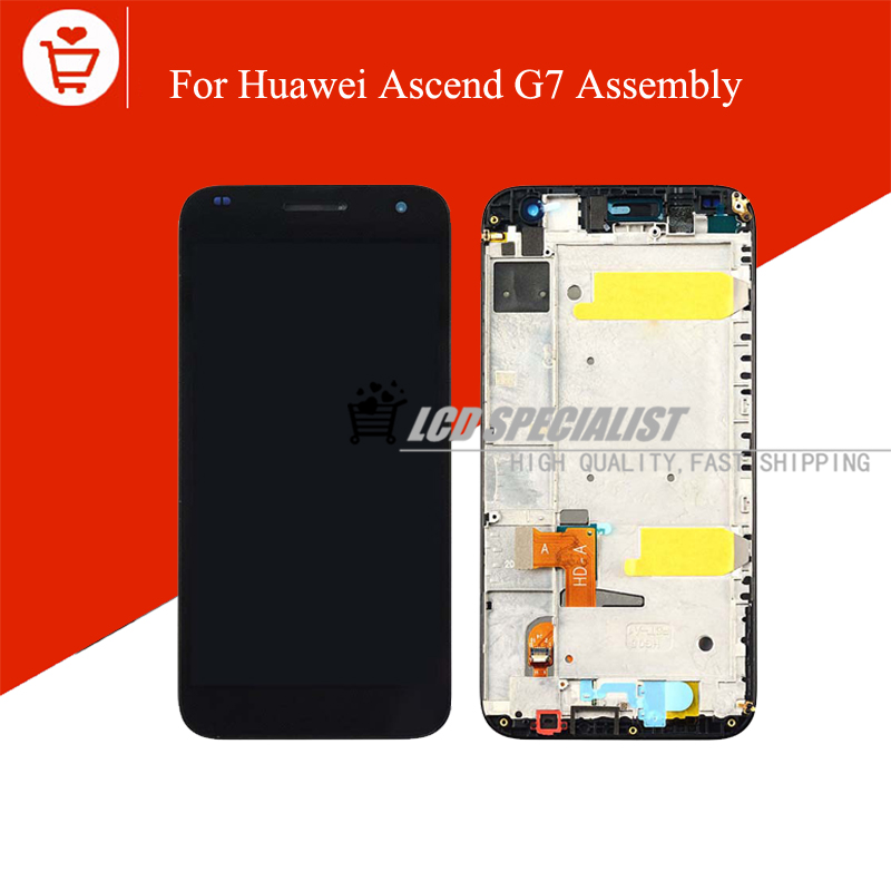 Black/White For Huawei Ascend G7 LCD Display With Touch Screen Digitizer Glass Sensor With Frame Full Assembly Repartment Parts<br><br>Aliexpress