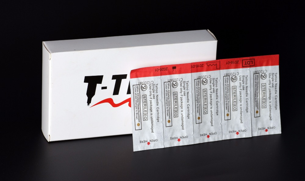 YABA TATTOO Cartridges Pcs 17CM Curved Magnum Tattoo Needles Cartridges FREE SHIPPING 5