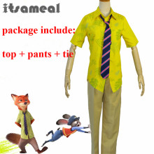 Cos ZOOTOPIA Nick Wilde Cosplay Costume Fox Cos ZOOTOPIA Nick Cosplay Clothing