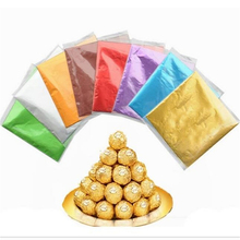 Chocolate Lolly Foil Wrappers Square 100pcs Sweets Candy Package Foil Paper