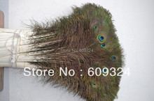 Wholesale Free Shipping Peacock Tail feather 100pcs per lot 30-35inch(80-90cm) peacock feather for cotumes(China)
