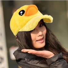 2013 New Big yellow Duck Design Women Hat Hip-Hop Baseball Cap