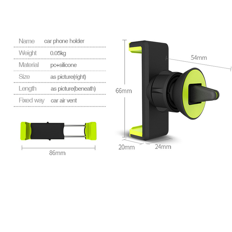 Car Mobile Phone Holder Air Vent Monut Holder Stand Universal 360 Degree Adjustable Car Clip For iPhone X 8 7 5 SE 6 6S Plus (26)