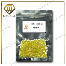 1000pcs AAAAA Yellow CZ Stone 0.9mm-3.75mm Synthetic Gemstone Yellow Cubic Zirconia Stone For Jewelry