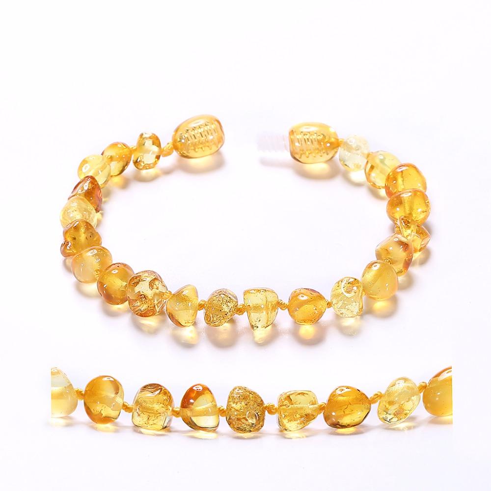 Baltic Amber Bracelet for Adult(Lemon) 1