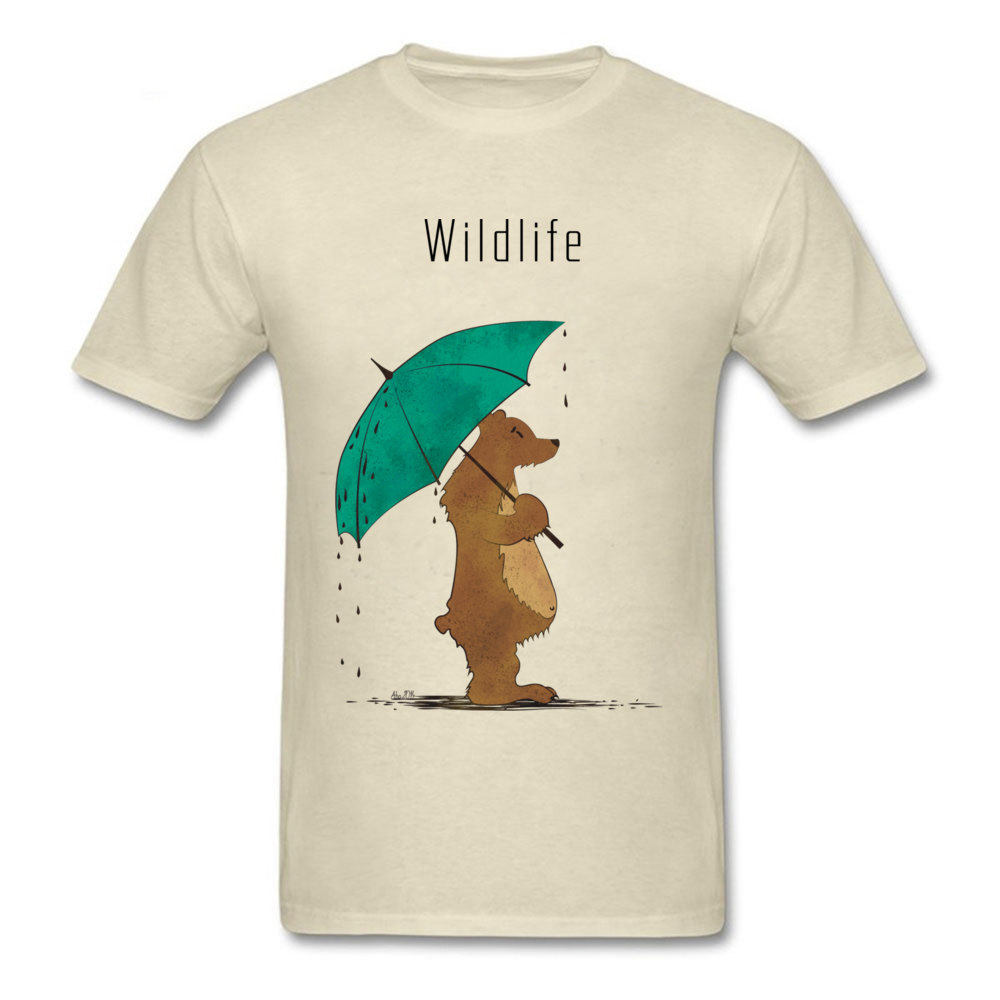 Wildlife Tees Wholesale Round Neck Summer Short Sleeve All Cotton Men's Top T-shirts Normal T Shirts Drop Shipping Wildlife beige