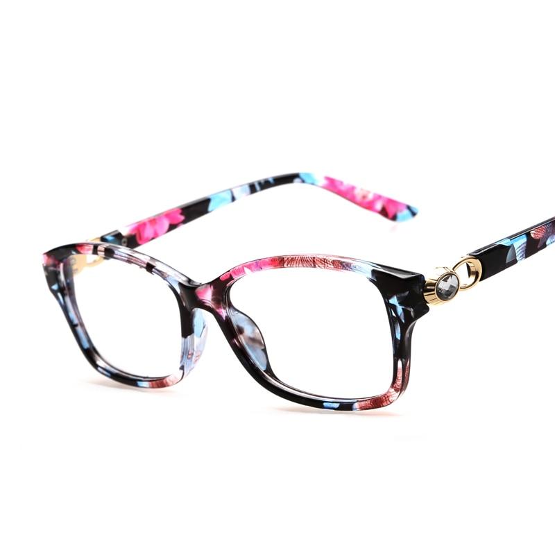 Mode Strass Blumen Brillen Rahmen Klare Linse Gefälschte Optische ...