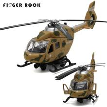 Diecast Metal Desert Camouflage Huey Helicopter Simulation Model Mini Flashing Electronic Alloy Airplane Boys Music Toys Plane(China)