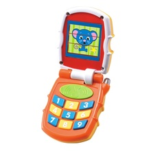 Baby Toys Musical Sound Flip Phone Kids Learning Study Brilliant Basics Phone Educational Mobile Phone Electric Toy for Children(China)