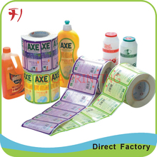 manufacturer customized roll cosmetic label printing company(China)