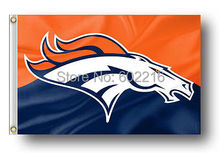 Denver Broncos Orange and White Large Outdoor Flag 3X5FT(China)