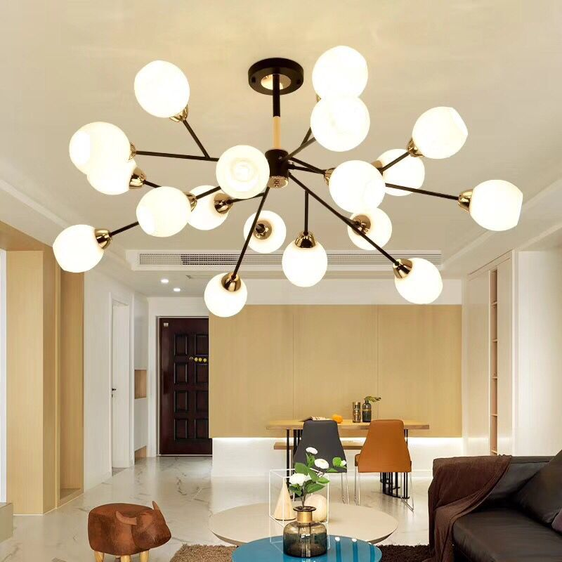 Ceiling Lights & Fans Modern Led Chandeliers Lighting Glass Suspended Lamps Luxury Deco Fixtures Living Room Pendant Luminaires Bedroom Hanging Lights Lights & Lighting