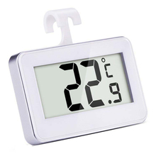 Digital Wireless Freezer/ Refrigerator Thermometer and Indoor Temperature Monitor, White(China)