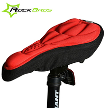 ROCKBROS 3D Sponge Lycra Nylon Bike Saddle Bicycle Cycling Cycle Seat Saddle Cover Ventilate Soft Cushion For All Bikes 5 Colors