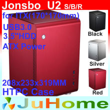 HTPC ITX Mini case, small case of the HTPC computer, aluminum, Home theater multimedia computer Jonsbo U2 V4 V2 V3+ U1