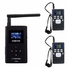 NIORFNIO Wireless Tour Guide System With FM Transmitter Handheld MP3 Broadcast Radio for Car Meeting Tour Guide Y4409A(China)