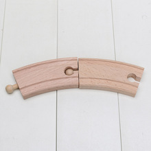 10pcs/lot Learning Curve Friends Wooden 10cm Short Curve Tracks Loose Curve slot(China)